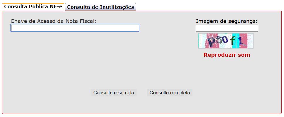 Consulta de NFe SP pelo Portal da Sefaz SP