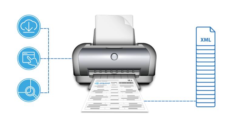 Como imprimir DANFe online. Imagem: Reprodução