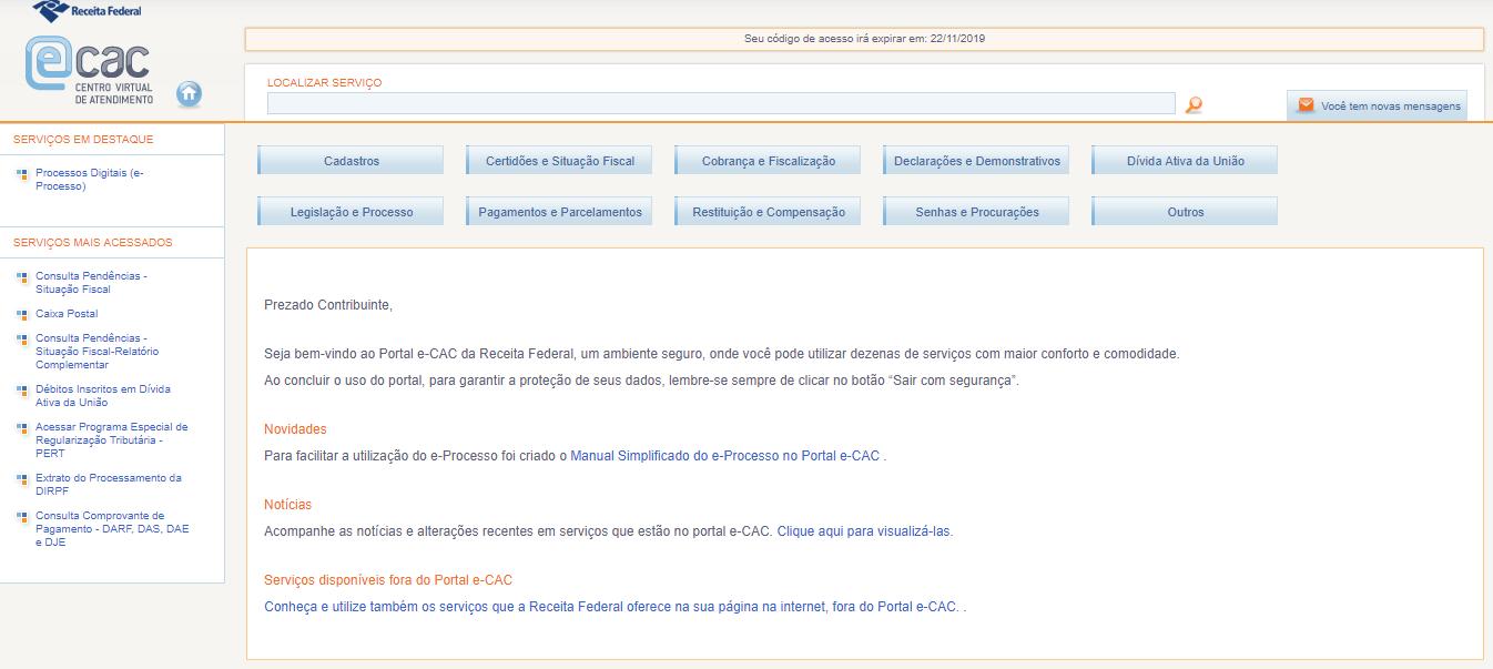 e-CAC DECLARAÇÕES DME