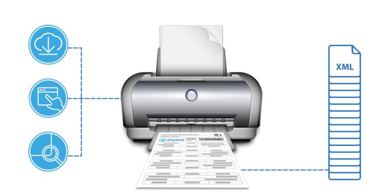 Imprimir DANFe online no Arquivei