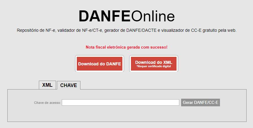 DANFe Online e a consulta de XML