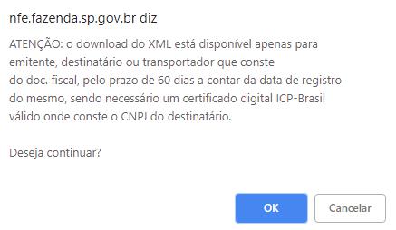 Certificado digital na consulta de NFe na SEFAZ-SP