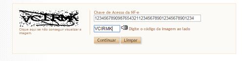 Chave de acesso no Portal da NFe