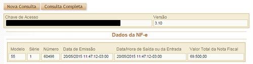 Consulta Resumo Portal da NFe