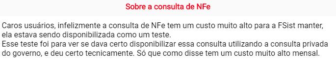 Consulta de NFe no Fsist