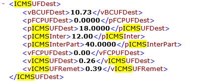 ICMS no arquivo XML da NFe